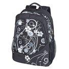 Studentský batoh Easy - Květy - bílý