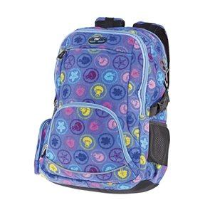 Studentský batoh Easy - Lístky - modrá