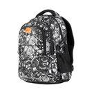Studentský batoh tříkomorový Easy - černo-bílý