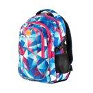 Studentský batoh tříkomorový Easy - modro-růžový