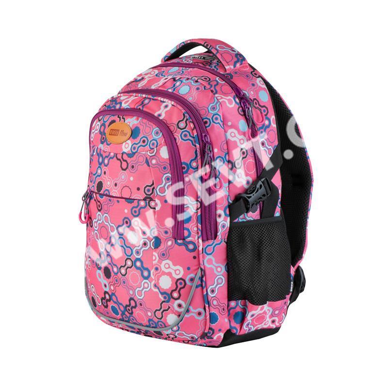 101389c542a Studentský batoh tříkomorový Easy - růžový - SEVT.cz