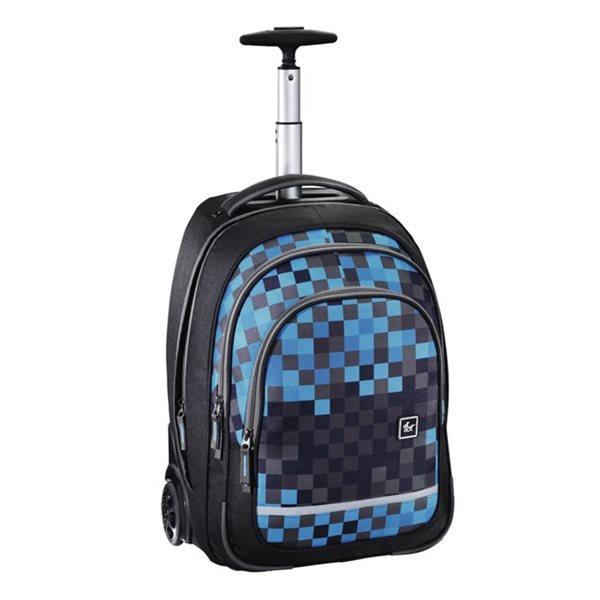 Školní batoh na kolečkách - Blue Pixel, Doprava zdarma