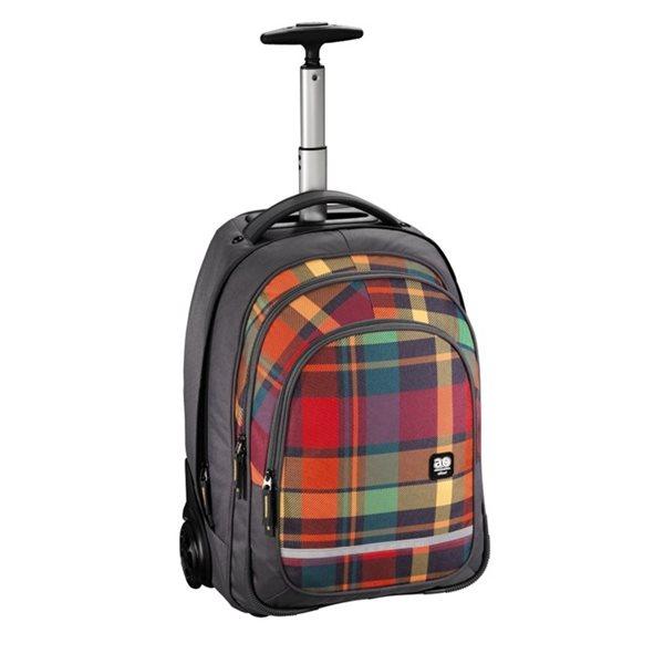 Školní batoh na kolečkách All Out - Woody Orange, Doprava zdarma