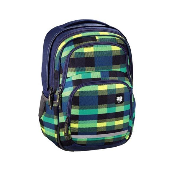 Školní batoh Hama All Out - Blaby - Summer Check Green