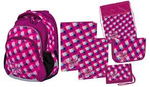 Školní set Butterfly Junior (batoh + penál + sáček + peněženka + boxy na sešity A4 a A5)