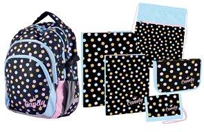 Školní set Candy Junior (batoh + penál + sáček + peněženka + boxy na sešity A4 a A5)