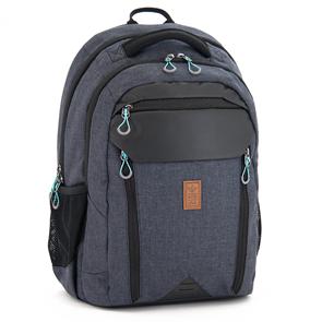 Školní batoh Ars Una AU04 - šedočerný