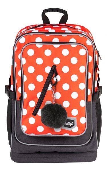 BAAGL Školní batoh Cubic - Puntíky