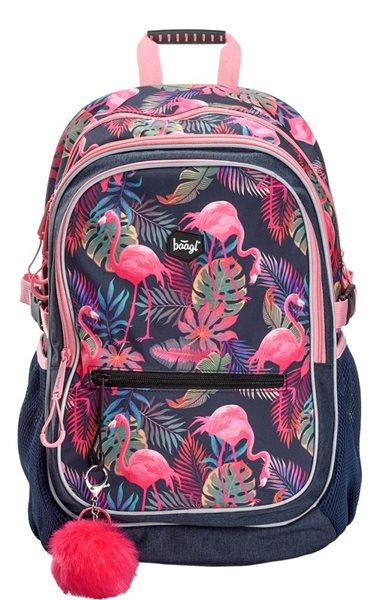 BAAGL Školní batoh - Flamingo