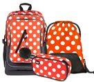 Školní set BAAGL - Cubic Puntíky (batoh + penál + sáček)
