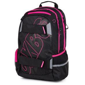 Studentský batoh OXY SPORT Black Line - Pink