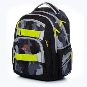 Studentský batoh OXY STYLE - Dark camo