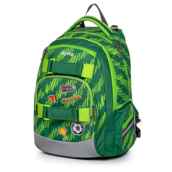 Školní batoh OXY STYLE MINI - Football green