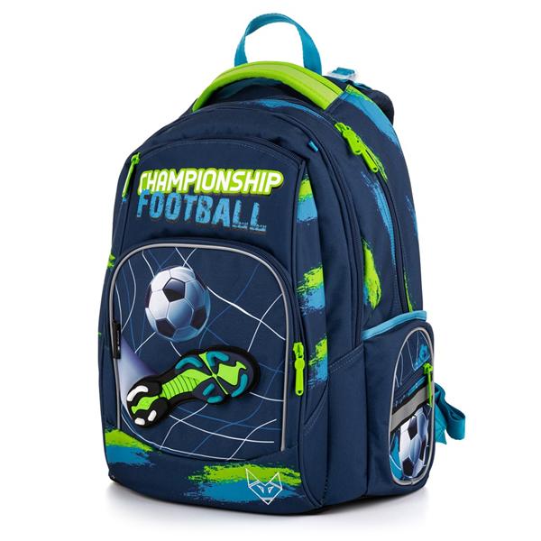 Školní batoh OXY STYLE MINI - Football blue