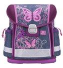 Školní aktovka Belmil - Purple flying butterfly