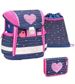 Školní set Belmil - Simple Heart (aktovka + penál + sáček)