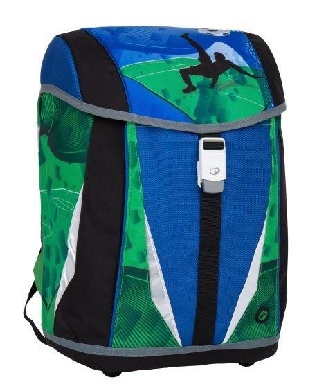 Školní aktovka Bagmaster - POLO 7 B BLUE/GREEN/BLACK, Doprava zdarma