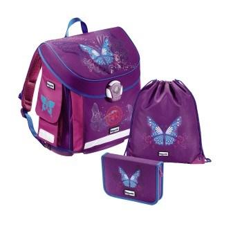 Školní aktovka Hama - Baggymax - Motýl - 3 dílný set, Doprava zdarma