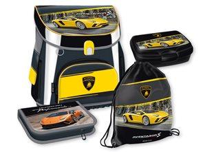 Školní set Ars Una - Lamborghini 18 - aktovka + penál (plný) + sáček na cvičky