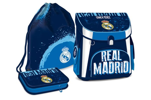 Školní set Ars Una - Real Madrid 18 - aktovka + penál (prázdný) + sáček na cvičky, Sleva 8%