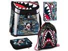 Školní set Ars Una Flying Sharks - aktovka + penál (plný) + sáček na cvičky