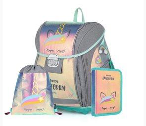 Školní set OXY PREMIUM Light - Magical unicorn (aktovka + penál + sáček)