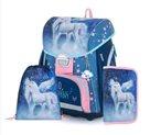Školní set OXY PREMIUM - Hello unicorns (aktovka + penál + sáček)