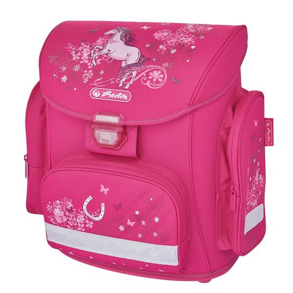 Školní batoh Herlitz Midi - Kůň/růžová, Doprava zdarma