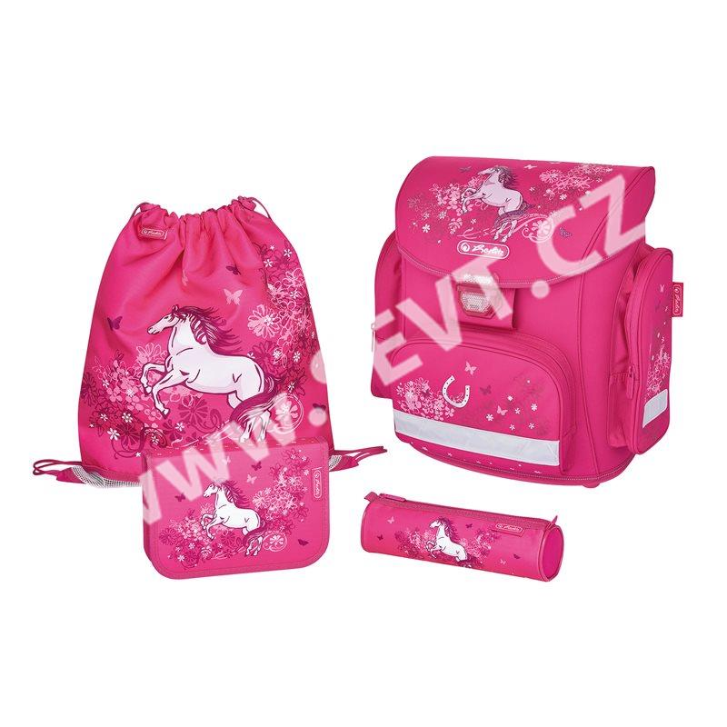 Školní batoh Herlitz Midi - Kůň růžová - vybavený - SEVT.cz 4a7eb49822