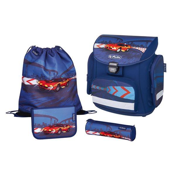Školní batoh Herlitz Midi - Červené auto - vybavený, Doprava zdarma