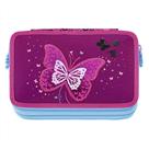 Školní penál - Step by Step vybavený blikací - Třpytivý motýl