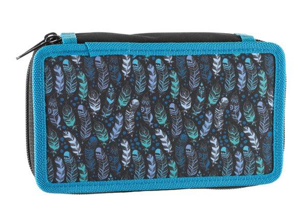 Školní penál dvoupatrový Stil - Indian Blue