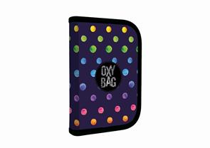Penál 1patrový 2 klopy prázdný OXY - Dots