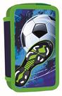 Penál 3patrový prázdný - Fotbal