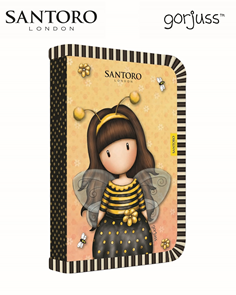 Penál 1patrový 2 klopy prázdný - Santoro Gorjuss Bee-loved