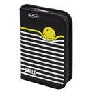 Školní penál - Smiley B&Y Stripes - jednopatrový, prázdný
