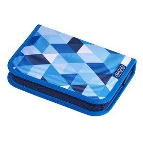 Školní penál Herlitz - Modré kostky - jednopatrový, plný