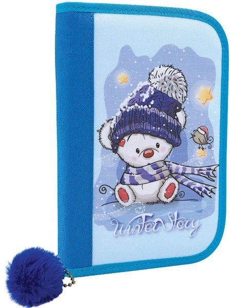 Školní penál CONCORDE Winter Story - 1 patro - medvídek modrý