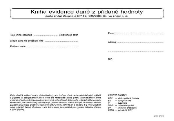 Kniha evidence DPH