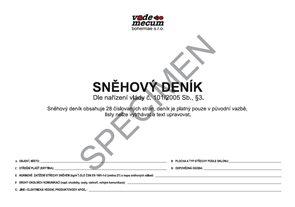 Sněhový deník dle nařízení vlády č. 101/2005 Sb.