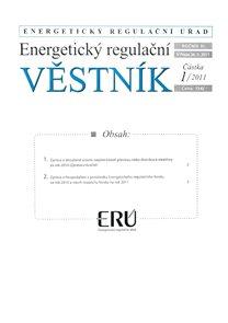 Energetický  regulační věstník 001/2011
