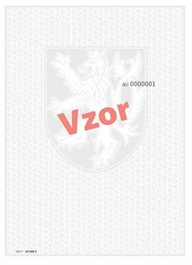 Bianco 280× 420 mm vysvědčení o absolutoriu v konzervatoři, závěrečné vysvěd. pro SŠ, tisk QR kód
