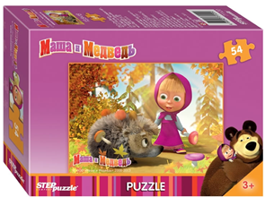 Puzzle mini 54 Máša a Medvěd - Ježek