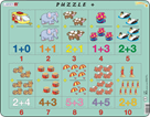 Puzzle MAXI - Sčítání s obrázky a čísly/20 dílků