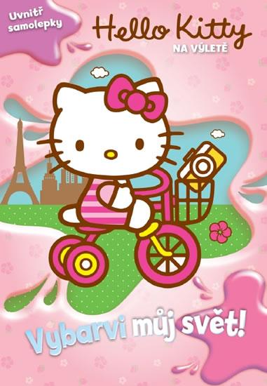 Hello Kitty na výletě - Vybarvi můj svět! + samolepky (1) - Sanrio - 20,6x29,5