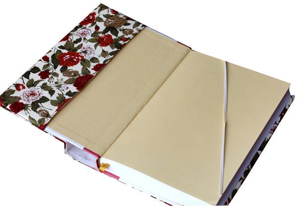 Univerzální obal na knihu - Květinové ornamenty