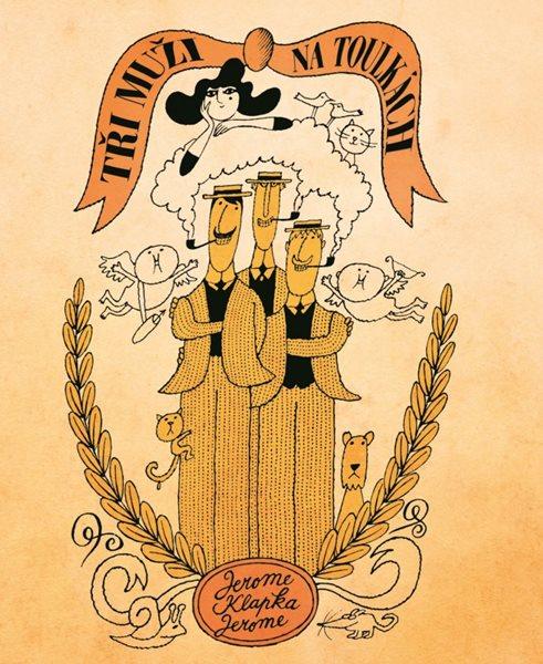 Tři muži na toulkách - Jerome Klapka Jerome - 14x18 cm