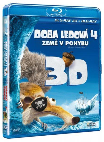 Doba ledová 4 - Země v pohybu Blu-ray 3D - Steve Martino, Mike Thurmeier - 13x17 cm