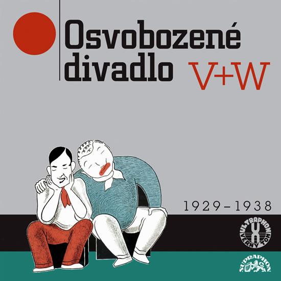 CD Osvobozené divadlo V+W 1929 - 1938 - Voskovec Jiří, Werich Jan - 13x14 cm