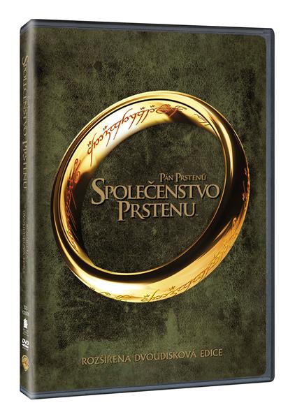 DVD Pán prstenů: Společenstvo prstenu - rozšířená dvoudisková edice - Peter Jackson - 13x19 cm